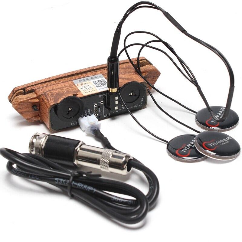 Skysonic A-910 Micro Guitare Acoustique Facile à Installer ou Désinstaller Super Son Trou Ramassage Accessoires Pour Guitare Acoustique
