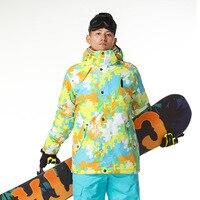 Gsou Snow Brand Ski Jacket Men Windproof Waterproof Ski Snowboard Men Outdoor Warm Winter Jacket Sport