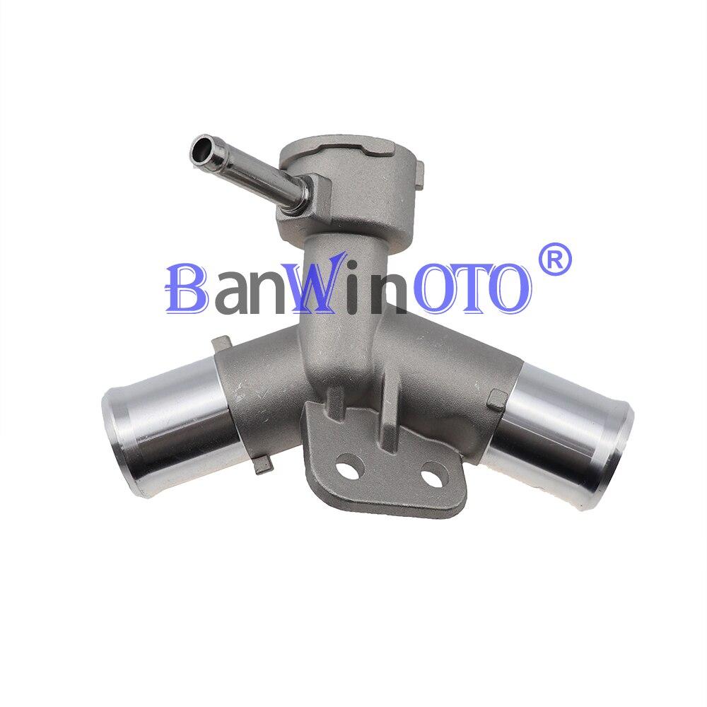 Verbesserte Aluminium Motor Heizkörper Füllstoff Neck Kühlmittel Thermostat Gehäuse Wasser Rohr für Toyota Yaris Belta Vios Vitz 1650221080