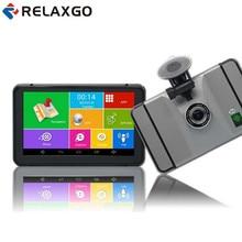 Relaxgo 7 inch Android Car GPS Navigation Wifi FM Car DVR Camera Video Recorder 1080P Portable Vehicle GPS Navigator 512MB /8GB