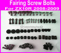 Fairing kit screw bolts kit for Kawasaki ZX10R 2008 2009 zx10r 08 09 black fairing dag screws coupling bolt set
