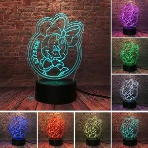 Image 5 - ¡Oferta! Lámpara de noche de 7 colores para regalar a niños de amhugs, Mickey, Minnie, raro, Peter Pan, campanilla, campanilla, princesa copo de nieve, 2020