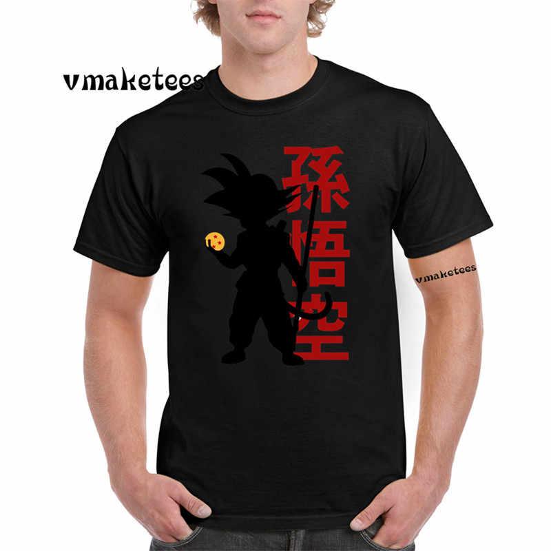 Футболка аниме с круглым вырезом и короткими рукавами SUPER Saiyan vegeta Goku Dragon Ball Z футболка GMT4040F