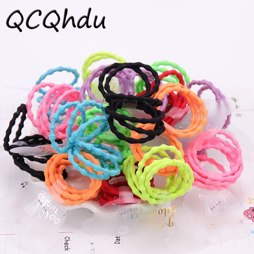 6PCS/Set Colorful Elastic Hair Bands Kids   Headwear   Scrunchy Rubber Rope for Girl Women Tie Gum Hair Accessories