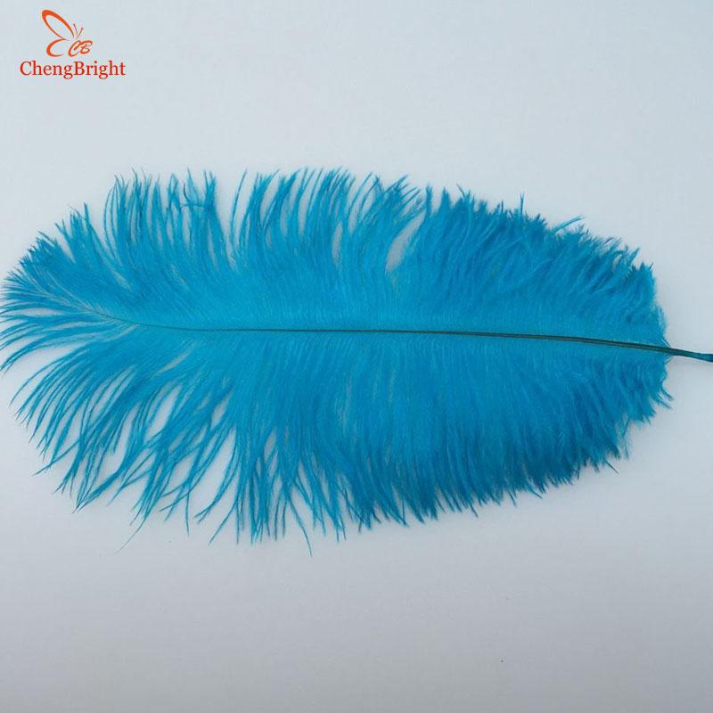 Chengbright 저렴한 500 개/몫 자연 스카이 블루 타조 깃털 하드로드 15 70 cm 호텔 파티 웨딩 장식 쥬얼리 깃털-에서깃털부터 홈 & 가든 의  그룹 3