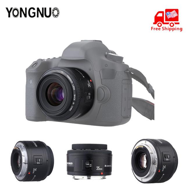 Original YONGNUO Lens YN50 mm YN50mm F1.8  YN35 mm YN35m F2.0 Camera Lens for Canon Canon EF for Nikon Nikon F DLSR Camera Lens
