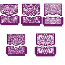 Henna Swirls Blooming Rose Flower Borders Edges Metal Cutting Dies for DIY Scrapbooking Paper Cards Making Crafts 2019 New