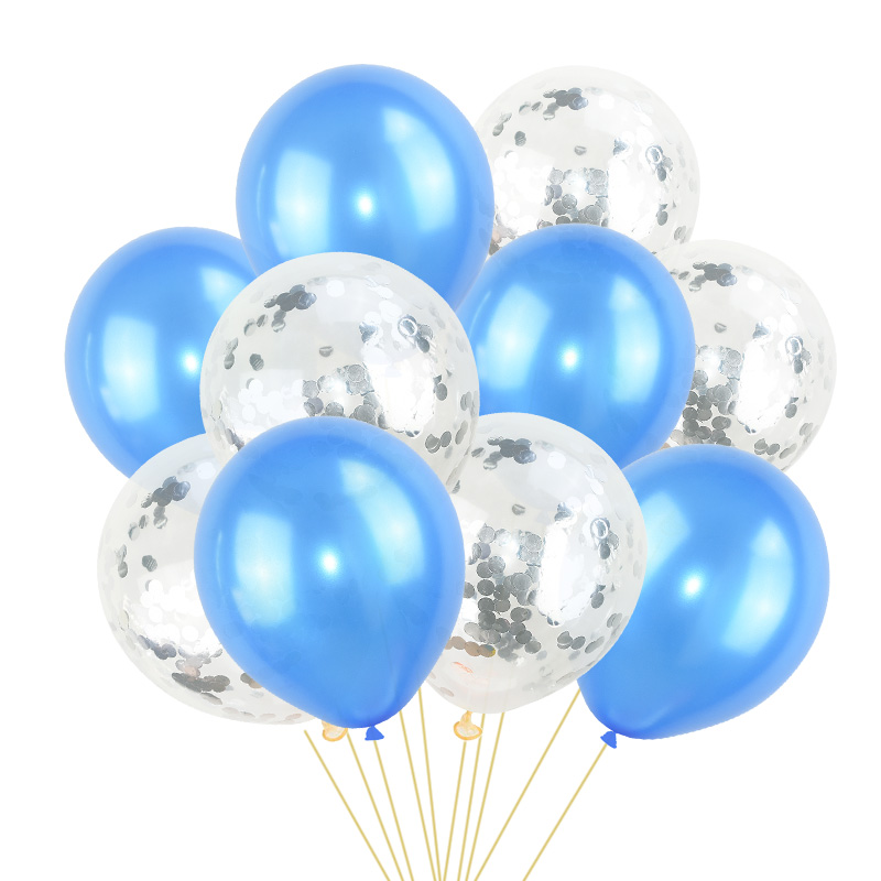 Image 5 - 10Pcs Mixed Confetti Balloons Happy Birthday Party Helium Balloon Decorations Wedding Festival Latex Balloon Party Supplies-in Ballons & Accessories from Home & Garden
