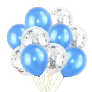 Image 5 - 10Pcs מעורב קונפטי בלונים שמח מסיבת יום הולדת הליום בלון קישוטי חתונה פסטיבל לטקס בלון ספקי צד