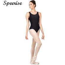 Bodysuit Gymnastics-Leotard Unitard SPEERISE Dancewear Adult for Women Spandex U-Neck