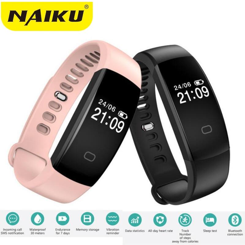 Intelligente Wristband Heart Rate Monitor IP67 Sport Fitness Inseguitore Del Braccialetto Intelligente Bluetooth Per Android IOS PK miband 2 ID107