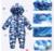 Pato Infantil Del Mono Del Mameluco recién nacido de Los Bebés Niñas ropa de Abrigo Con Capucha niño Ropa de Invierno de los cabritos Traje Para La Nieve Chaqueta de Arrastre