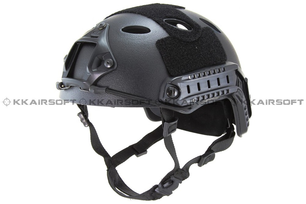 Emerson мотоциклетный шлем страйкбол быстрый стиль PJ шлем(A-TACS FG TAN MARPAT Пустыня на серый черный - Цвет: BLACK