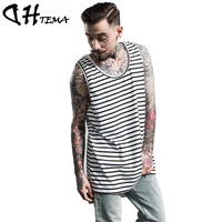DHTEMA New 2017 Hip Hop Mens T Shirts Cotton Men Hiphop Tank Tops Clothing Bodybuilding Tops Tees
