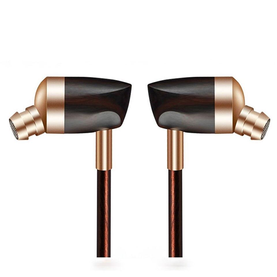 Le plus récent BLON BOSSHIFI B3 dynamique et Armature 2 unités en bois écouteurs HIFI ébène en mouvement fer et bobine dans l'oreille écouteurs bricolage en bois casque
