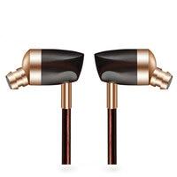 Newest BLON BOSSHIFI B3 Dynamic and Armature 2 unit Wood Earbuds HIFI Ebony Moving Iron&Coil In Ear Earphone DIY Wooden Headset
