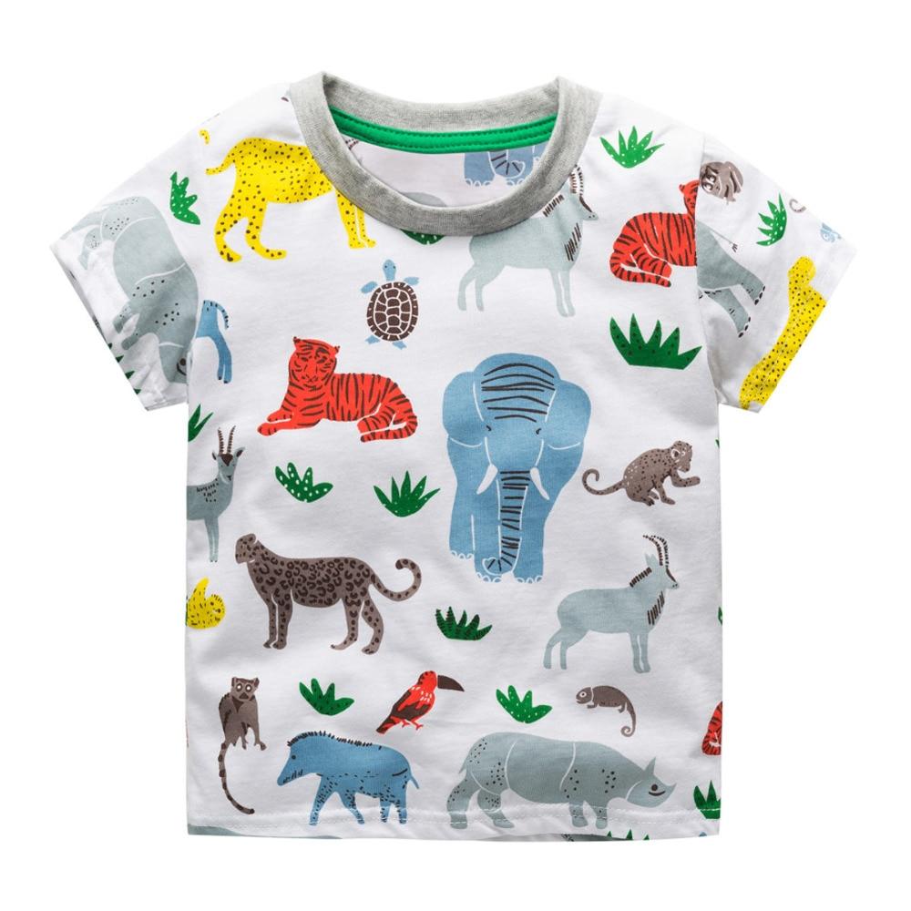 Littlemandy Boys T Shirt Baby Topy Letnie ubrania 2018 Dinosaur - Ubrania dziecięce - Zdjęcie 4