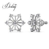 Gioielli Destiny new star orecchini di cristallo della vite prigioniera dell'orecchio, monili di modo di cristallo da Swarovski DE0064