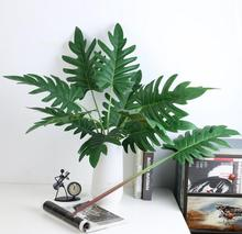 Green Leaf 8pcs/Lot  Split Philodendron Leaves Artificial Plant Arrangment Branches Waterproof Free Shipping