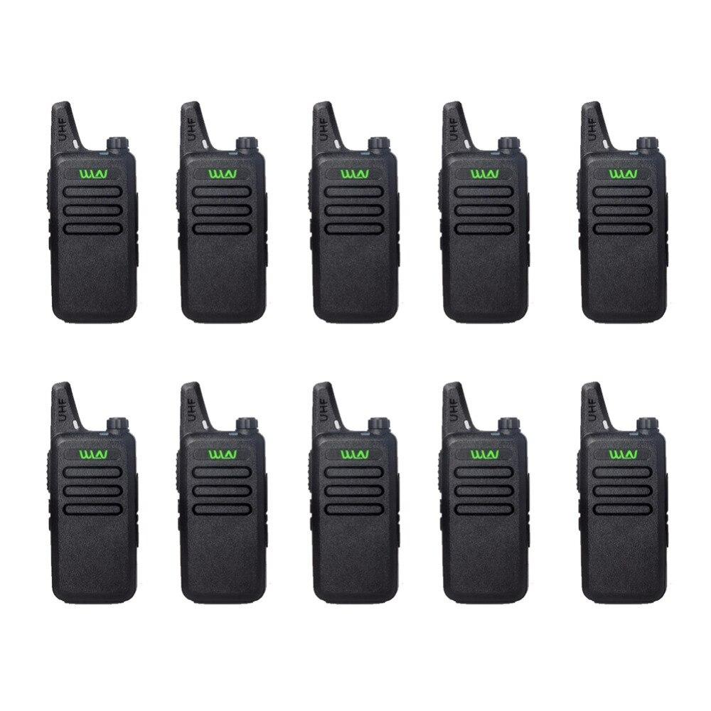 10 pcs RFD KD-C1 Mini Talkie Walkie UHF 400-470 MHz 5 W Puissance 16 Canaux MINI-ordinateur de poche émetteur-récepteur Mieux Alors BF-888S