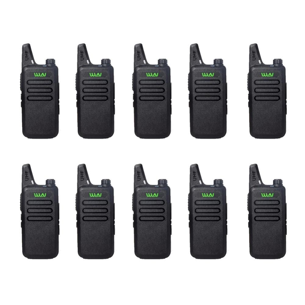 10pcs WLN KD-C1 Mini Walkie Talkie UHF 400-470 MHz 5W Power 16 Channel MINI-handheld Transceiver Better Then BF-888S