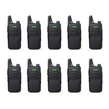 10 шт. WLN KD-C1 Мини Walkie Talkie UHF 400-470 МГц 5 Вт Мощность 16 Канал МИНИ-ручной трансивер Лучше, Чем BF-888S