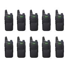 10 шт. WLN KD-C1 мини-рация UHF 400 мГц 470 5 Вт мощность 16 каналов мини-портативный трансивер лучше, чем BF-888S