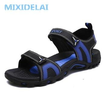 Fashion Man Beach Sandals 2018 Summer Gladiator Men's Outdoor Shoes Roman Men Casual Shoe Flip Flops Large Size 46 slippers Flat 1