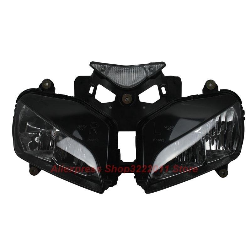 Clear Lens Motorcycle Plastic Front Light Lamp Case For Honda CBR1000RR  2004 2005 2006 2007 Headlight Housing Set blue headlight lens cover for honda cbr600rr cbr 600rr 2003 2004 2005 2006 cbr1000rr 1000 rr 2004 2005 2006 2007