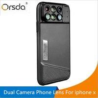 Orsda Phones Lenses 6 In 1 Dual Camera Phone Lens Fisheye Wide Angle Macro Telescope Zoom