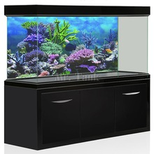 Mr.Tank PVC Aquarium Hintergrund Poster Fantasy Berg Cosplay Aquarium Hintergrund HD Aquarium Dekorationen