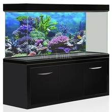 Mr.Tank PVC Aquarium Background Poster Fantasy Mountain View Fish Tank Backdrop HD Decorations