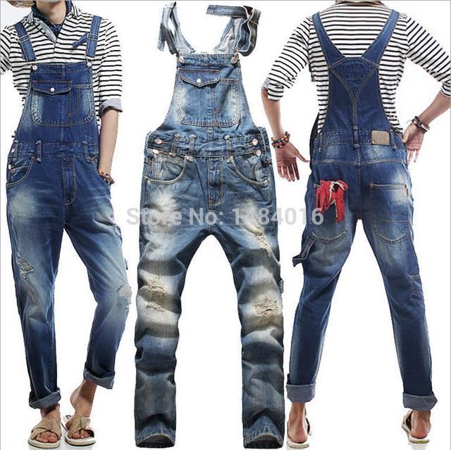 European New Jeans Original For True Baggy Fashion Ripped Men 2015 Men Jeans Denim Overalls American w4q0BdwxnE