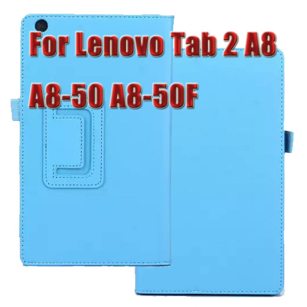 3 in 1 Lichi Pattern Leather Stand Tablet Cover Case For Lenovo Tab 2 A8 A8-50 A8-50F + Screen Protector + Stylus Case