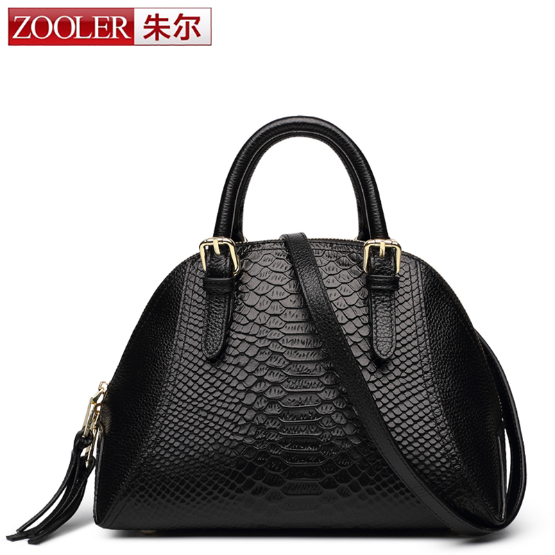 ZOOLER genuine leather bag women messenger bags luxury handbags shell bags designer bolsa feminina #6918