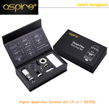 100% Original Aspire Quad-Flex Survival Kit Electronic Cigarette Atomizer Aspire Quad-Flex Survival Kit Quad Flex 4-in-1 RDTA
