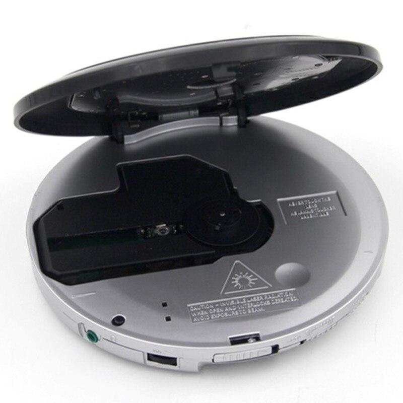 Портативный cd walkman Музыкальный плеер поддерживает MP3 WMA CD R формат диск FM радио Повтор басов boost противоударный с гарнитурой светодиодный экран - 4
