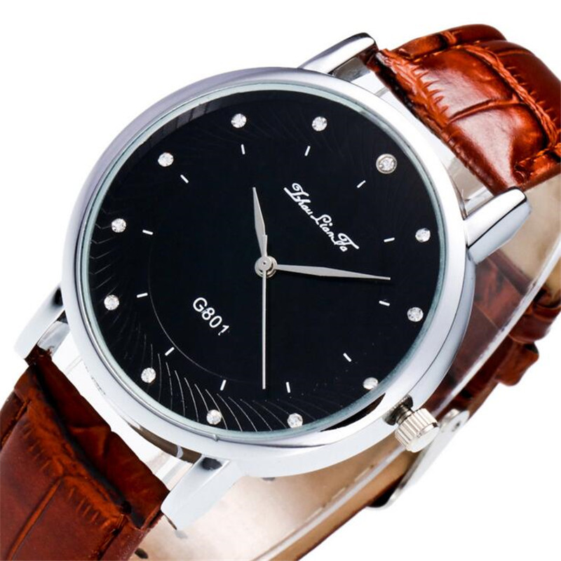 Simple Waterproof Black Leather Strap Men Business Quartz Watch Relojes Hombre 2017 Mens Watches Top Brand Luxury Men Watch B417