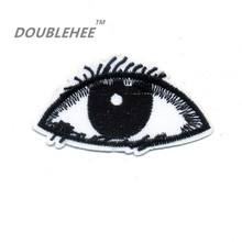 DOUBLEHEE 7.2cm*4.4cm Embroidered Iron On Patches Eyes Design Embroidery DIY Garments Shoes Bags