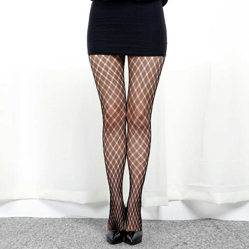 4799528af4736 ... LIMSISNIW Plaid Pattern Woman Fashion Black Tights Ladies Lattice Design  Pantyhose for Young Girl Good Elastic