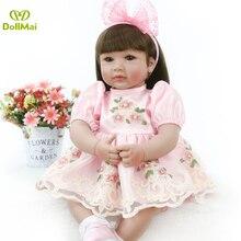 55 cm silicona Reborn Baby Doll juguetes 22 pulgadas vinilo reborn girl princesa bebé muñecas Regalo de Cumpleaños presente l ¡! o l muñeca