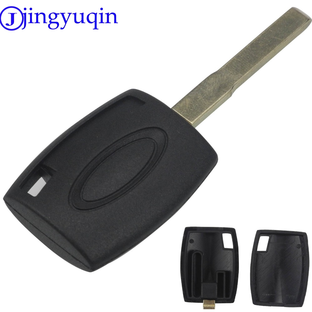 jingyuqin Remote Transponder Key case shell Cover For Ford Fiesta Mondeo Focus C-Max S-Max Galaxy Kuga HU101 smart remote key fob keyless 434 mhz 4d63 80bit remote key with emergency key fit for ford focus c max mondeo kuga fiesta b max