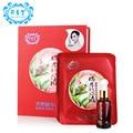 10 Unids/caja Natural Cara Hoja Máscara Caracol Antiarrugas Cuidado de La Piel Hidratante Para Blanquear Los Poros de Desaparecer Manchas Oscuras + Caracol esencia