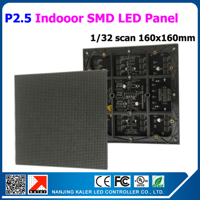 TEEHO Indoor P2.5 Full Color RGB LED dot matrix module 160*160mm 64*64 pixels 2.5mm for LED sign Board rgb led 160mm