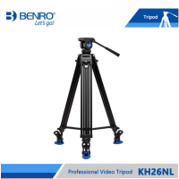 BENRO KH26NL KH 26NL Video Tripod Professional Aluminum Video Camera Tripod Hydraulic Head Max Loading 5KG