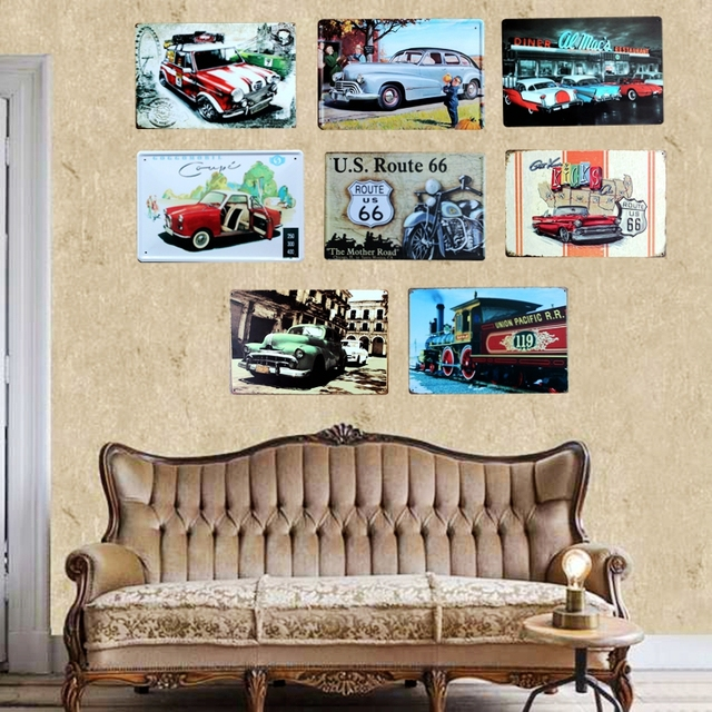Us 4 99 45 Off Classic Car Tin Metal Signs Vintage Plates For Wall Bar Garage Home Art Decor Cuadros Wall Sticker 30x20cm A 5085 In Plaques Signs
