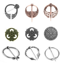 Newest Nordic Viking Brooch Shoulder Shawl Scarf Clasp Cloak Pin Women Men Lapel pins Vintage Brooches Retro Jewelry souvenir(China)