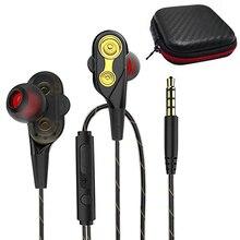 Verbesserte Dual Treiber Kopfhörer Super Bass Sport Kopfhörer Stereo Musik Headset Wired Earbuds in ear Ohrhörer mit Mic