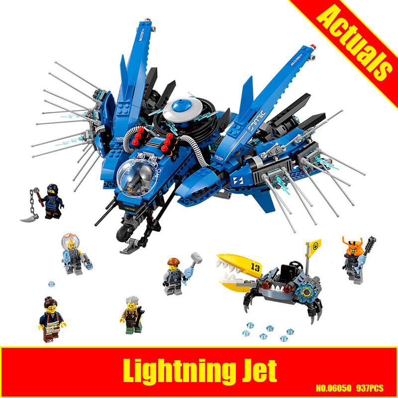 WAZ Compatible Legoe Ninjagoes 70614 Lepin 06050 937pcs Ninjago Lightning Jet Figure building blocks Bricks toys for children lepin 06037 compatible lepin ninjagoes minifigures the lighthouse siege 70594 building bricks ninja figure toys for children