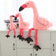 1pc 45/65 / 95cm Flamingo plysch fylld leksak söt Fågeldockor tecknad Birdie Hem dekorativ kudde kudde Quality Fabric Xmas Gift